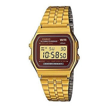 RELOJ CASIO RETRO DORADO ESFERA MARRON