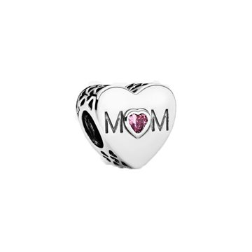 CHARMS PANDORA PLATA CORAZON MOM