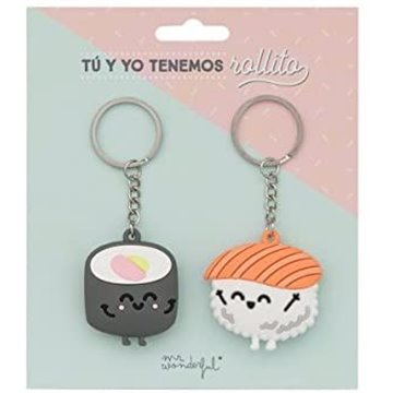 SET 2 LLAVEROS MR WONDERFUL TU Y YO